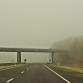 Gevaarlijke omstandigheden op de weg door dichte mist tijdens ochtendspits