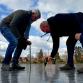 Nog een paar centimeter ijs, en dan kunnen we in Zutphen schaatsen