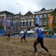 Beachvolleybal op de Zutphense Groenmarkt