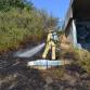 Natuurbrand nabij de Cortenoeversebrug