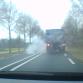 BOEM! Dashcam filmt vrachtwagen die klapband krijgt