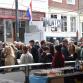 Drukte op de Zutphense Groenmarkt tijdens Bevrijdingsfestival