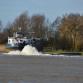 Schip in problemen op IJssel bij Zutphen