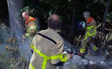 Brandweer rukt groots uit voor bosbrandje in buitengebied
