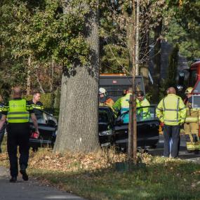 Auto knalt tegen boom in Warnsveld