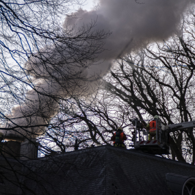 Brand in Villa in buitengebied Epse