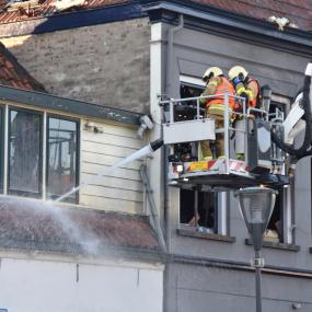 Buren verwoest huis kunnen nog niet thuis slapen
