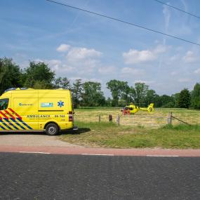 Incident bij Zutphense Sterflat, traumahelikopter ingezet