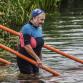 Zwemmers springen in de Berkel, mede door het Maarten van der Weijden-effect