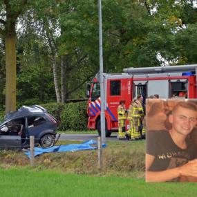 Veel condoleances voor 20-jarige Luciën uit Warnsveld die omkwam bij auto-ongeluk