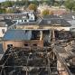 Enorme ravage na brand Brummen goed te zien op luchtfoto's