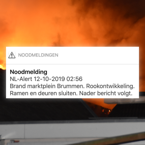 De NL-alerts versturen tijdens grote brand in Brummen ging niet helemaal goed