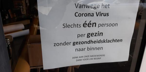 Winkeliers willen minder klanten door coronavirus